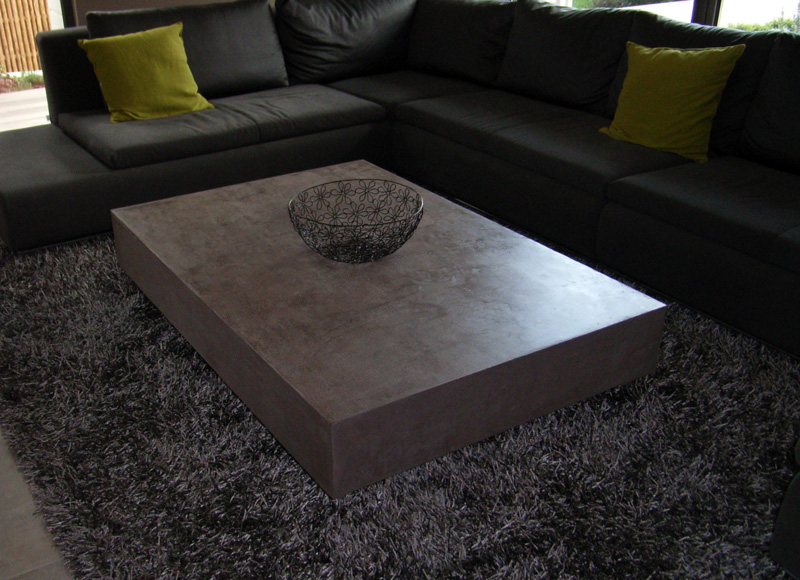 table basse en b ton romain serve