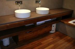 Salle de bain, béton